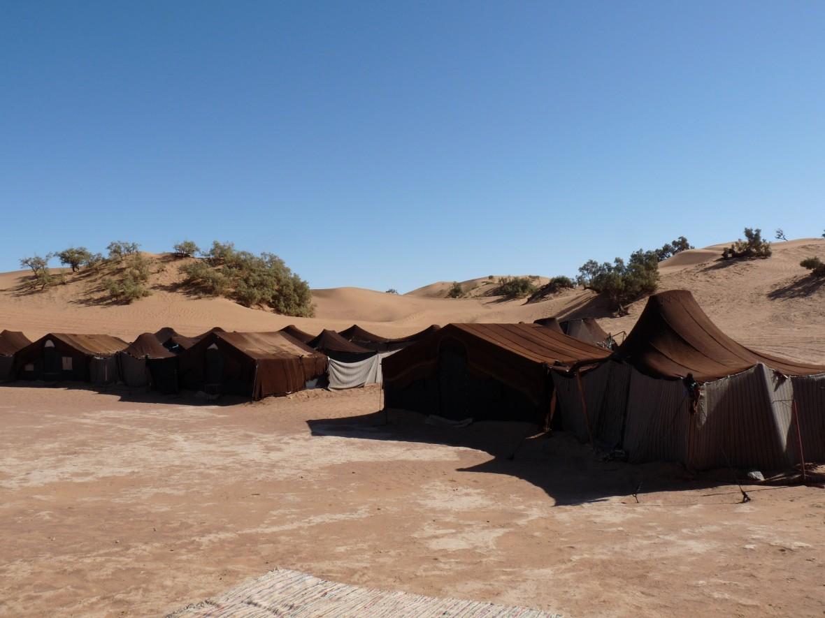 désert de m'Hamid - bivouac - sud Maroc