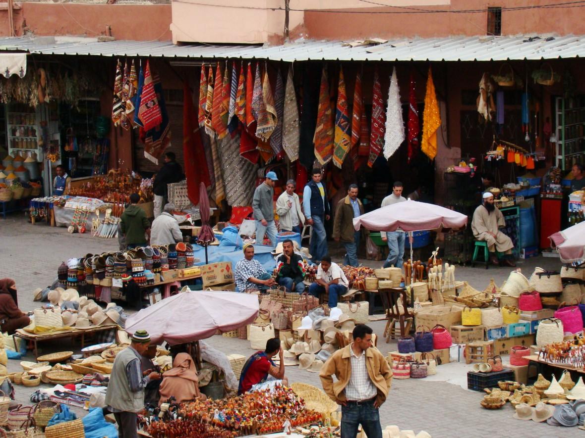 souk de Marrakech - villes impériales - Maroc