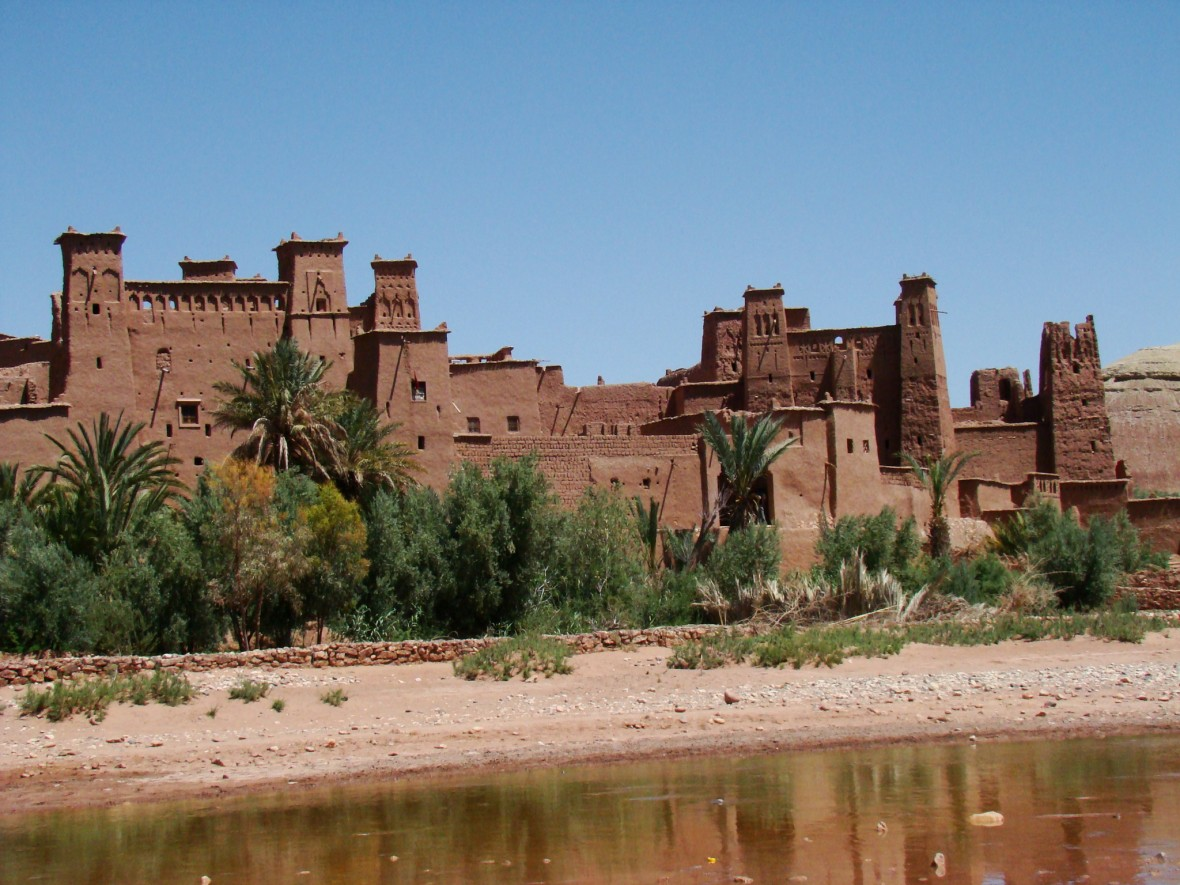 Ouarzazate dans le sud du Maroc