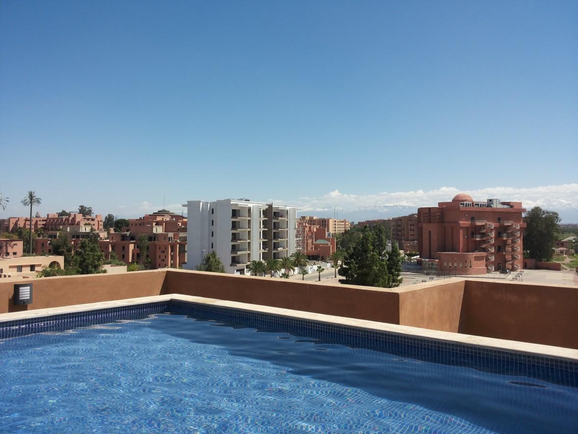 Piscine appart Marrakech location